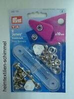 PRYM Jersey Druckknopf Druckknöpfe 10mm silber 390120