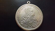 45 mm Thaler Size Medal Pendant of Habsburg Charles VI Holy Roman Emperor