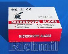 50 Ground Edge Frosted Panel Microscope Slides *UK*