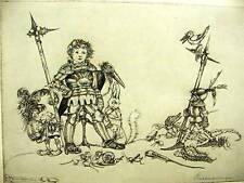 Sulamith Wulfing BOY'S DREAM WARRIOR 1932 Print Matted