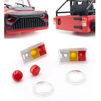 313mm Rad Auto Vorne Hinten Rücklicht Lampenschirm für Wrangler 1/10 RC Crawler