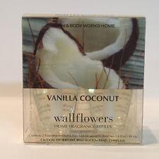 LOT 2 BATH & BODY WORKS VANILLA COCONUT WALLFLOWERS HOME FRAGRANCE REFILL BULBS