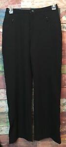 L.L.Bean Women's Black Polyester/Spandex Adjustable Waist Trail Pants Size 8 *