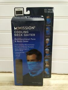 Mission Adult Cooling Neck Gaiter Face & Neck Cover Mask Black /