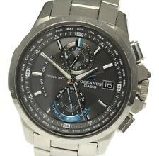 CASIO Oceanus OCW-T1010B-1AJF Black Dial Solar Powered Radio Men's Watch_492961