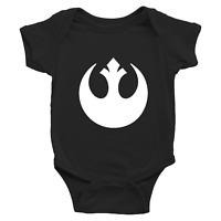 Infant Baby Boy Girl Rib Bodysuit Clothe Star Wars Rebel Alliance Rebellion Jedi