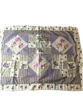 Purple Patch Work Country pillow shams standard 3 Pieces