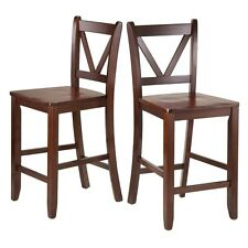 """Winsome Victor 2-pc 24"""" V Back Counter Stools 94253 Barstools NEW"""