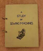 A Study of Sewing Machines. S Hattersley, Handwritten Manuscript C1953 Rare Look