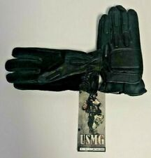 Usmg Tactical Black Leather Full Finger Paintball Gloves, Men's Xl - Brand New!