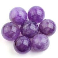 Amethyst Stone  Sphere Ball Crystal Healing Therapy Mini Table Home Décor