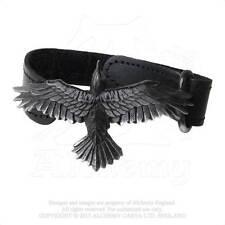 Raven Adjustable leather Strap Bracelet Alchemy Gothic Norse Viking Odins Raven