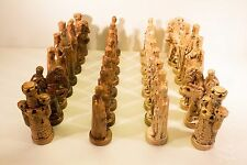Vintage Alberta's Mold Inc. CERAMIC CHESS SET (1978) Completed