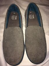 TOMS MAN SHOES SLIPPERS,OUTER SUEDE LEATHER BOYS SLIPPERS UK5,EU38, 25cm