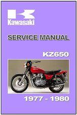 KAWASAKI Workshop Manual KZ650 Z650 LTD SR 1977 1978 1979 & 1980 Service Repair