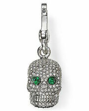 Juicy Couture 2012 Pave Skull Charm Silver Tone YJRU6329 Retired