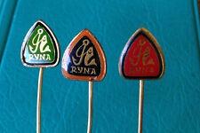 RYNA Fishing Tackle and Hook Makers Fish - Set of 3 Logo Advertising Pin Badges