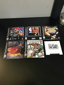 Lot Of 5 Instruction Manuals only Playstation PS1 - Insert Hot Wheels - Caesars
