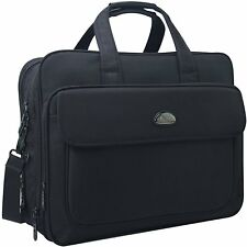 17 inch Laptop Bag Travel Briefcase with Organizer Expandable Large Shoulder Bag
