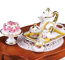 DOLLHOUSE French Rose Coffee Table Set Reutter 1.785/2 Miniature