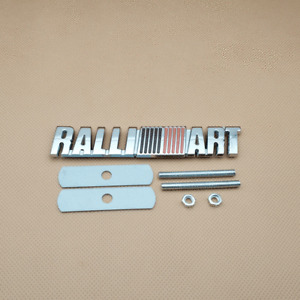Metal Chrome Silver Grill Car Emblem Mount Front Grille PALLI ART Logo Badge