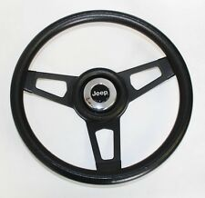 Jeep CJ YJ Wrangler Cherokee Grant Black Steering Wheel black spokes 13 3/4""