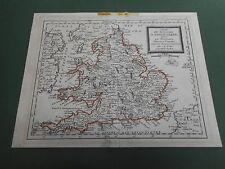 100% Original Inglaterra mapa por Nolin/Du Roi C1780/S mano de color