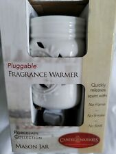 Candle Warmers Etc. Pluggable Fragrance Warmer, Mason Jar Porcelain Collection