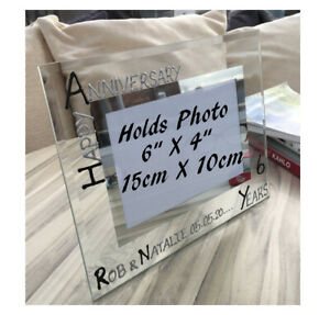 Personalised/Non personalised 6th Anniversary Picture Photo Frames Land