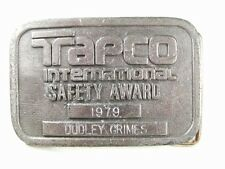 Tapco International Safety Award Duley Grimes Belt Buckle By HIT LINE USA