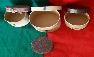 Set Of 5 Nesting and Stackable Trinket Boxes Oval Shape