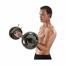 Gold's Gym 50 lb Olympic Plate Set Black (4) 10 lbs, (2) 5 lb