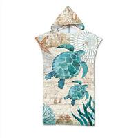 Sea Turtle Bath Swim Beach Hooded Towel Coverup Poncho Adult Kids Gift