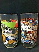 Vintage 1981 McDonald's The Great Muppet Caper Set Of 2 Glasses