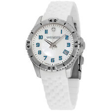 Wenger MOP Dial White Silicone Strap Ladies Watch 010121108