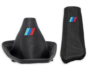 PER BMW E90 E91 serie-3 CUFFIA LEVA CAMBIO e FRENO A MANO RICAMO M-Power ///M