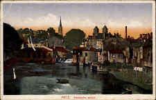 1918 Feldpostkarte Feldpost Stempel Saarbrücken BHF. auf AK CPA Metz Frankreich