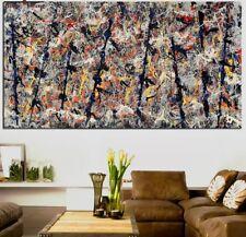 "Jackson Pollock ""Blue poles"",  HD Print on canvas, For wall decoration 24x48"""