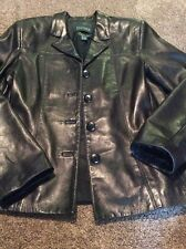 Women's Danier Soft Leather Moto Button Front Jacket Size 8-10 Black        #34