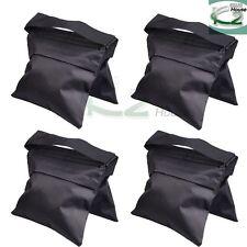 4x Black Weight Sandbags Counter Balance Sand Bag for Photo Studio Light Stand