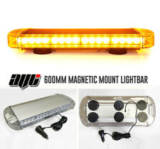 "600MM 24"" Magnetic LED Amber Light Bar Beacon Hazard Recovery Vehicles Van Truck"