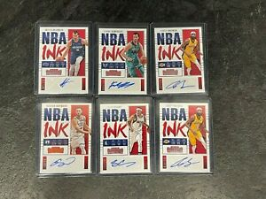 2017-18 Contenders NBA INK 6X Auto LOT - Curry Hayward Brewer Kaminsky Hezonja