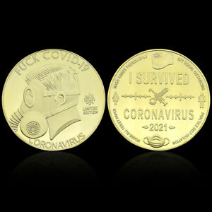 2021 Gold Commemorative Coin Gold Plated Metal Coins Souvenir for Collection