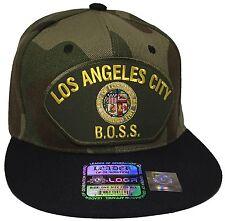 City Of Los Angeles BOSS Hat Color Camo Black Snapback