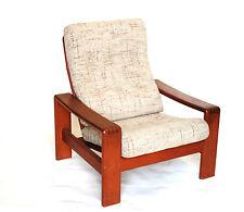 Sessel 70er Jahre easy lounge chair mcm Leder lether armchair Lehne Armlehner