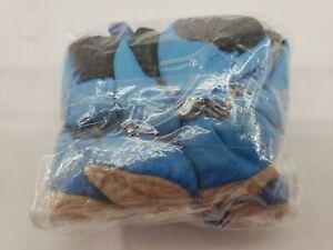 4 pack of Waterproof Anti-Slip Puppy Dog Paw Rain Boots Socks Shoes 7-11lbs Blue