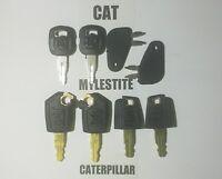 (8) Master Cat Keys Caterpillar Heavy Equipment Ignition Key 5P8500 Paver Roller