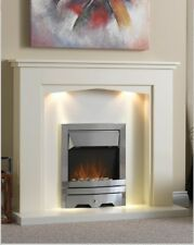 Eden Suite 48 inch with Chrome Electric Fire