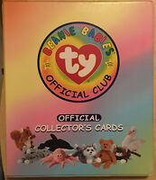 Ty Beanie Babies 1998 Official Club Collector's Card Binder With 150 Cards