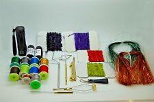 FLY tying Kit di strumenti e materiali, Decorazioni, filo, Frusta rifinitore, colla UV, filo
